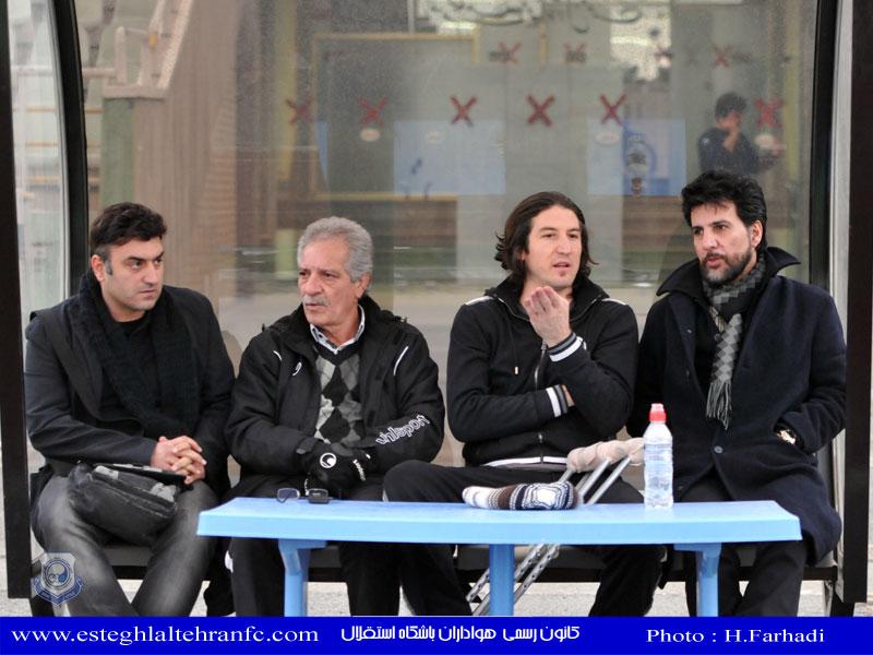 بزرگان وپیشکسوتان استقلال :شاهرخ بیانی منصورخان و....